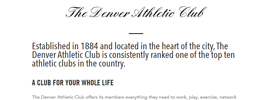 Amazing Sports Clubs in Denver, CO