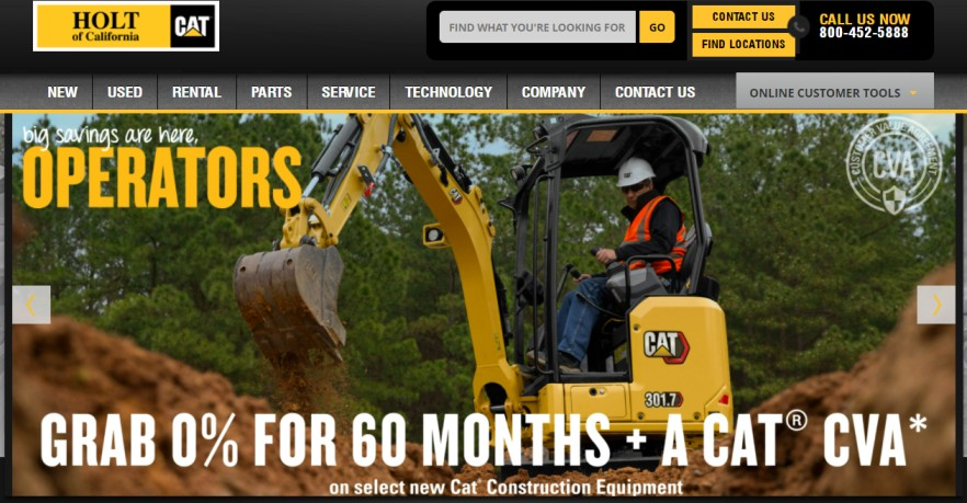 heavy machinery rentals in Sacramento