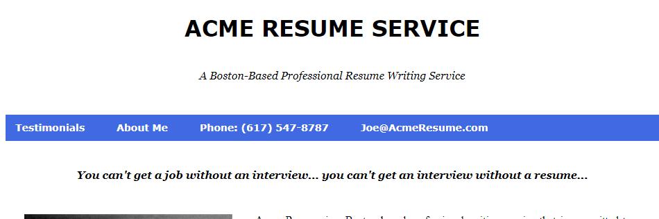 Adept Resume Services in Boston