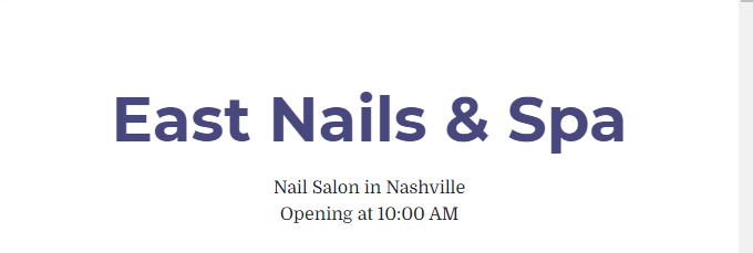 experienced Nail Salons in Nashville