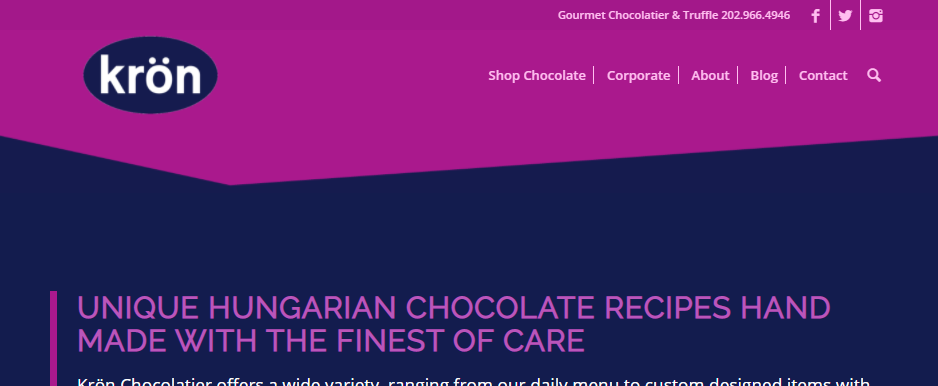 Premier Chocolate Shops in Washington