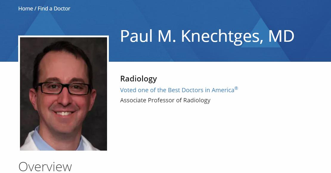 Finest Radiologist in Milwaukee
