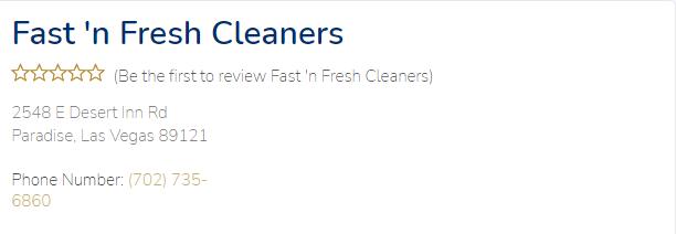 friendly Dry Cleaners in Las Vegas