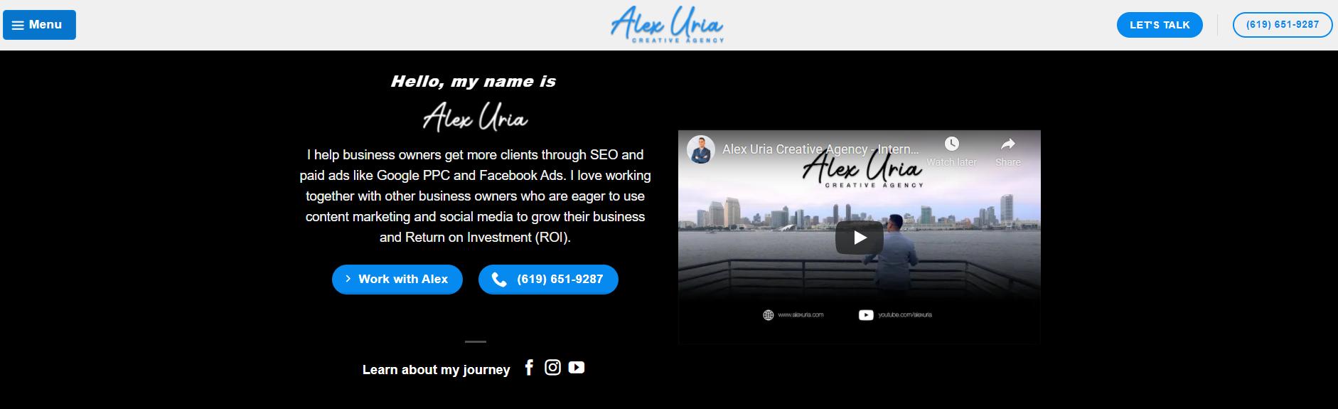 Alex Uria - Content Marketing and SEO Services