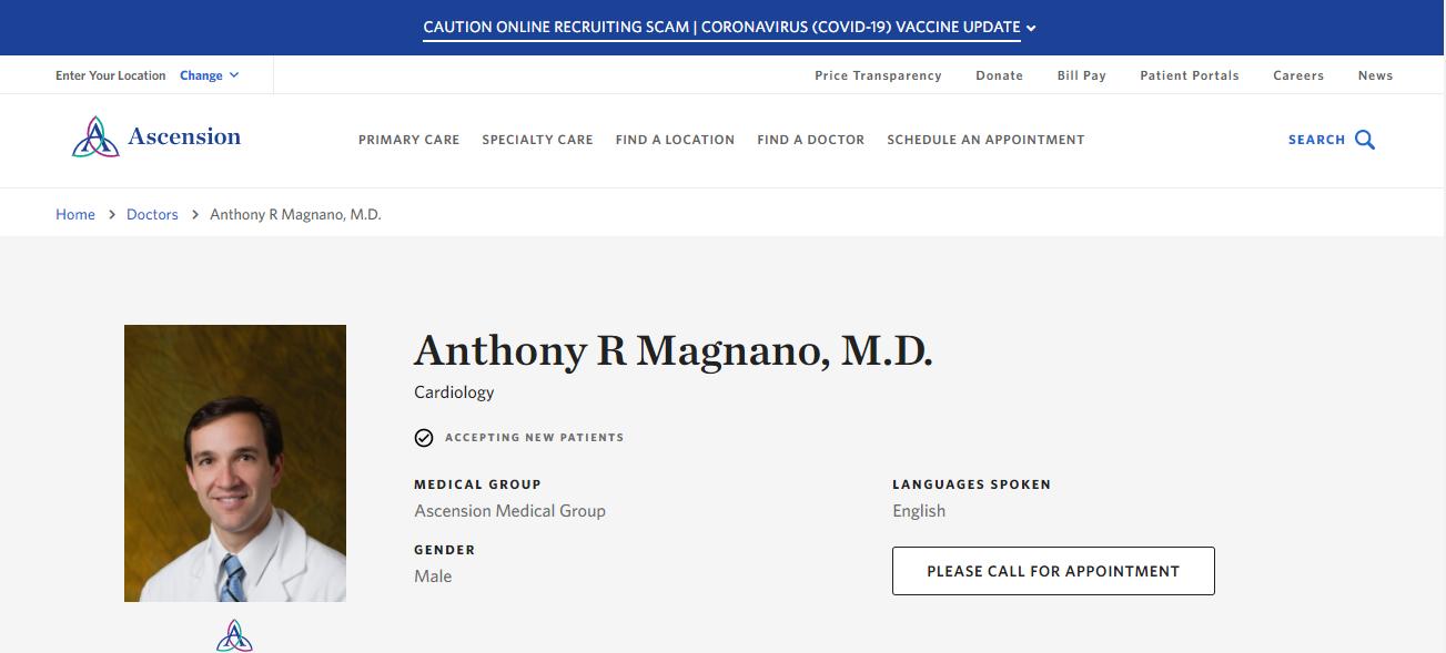 Anthony R Magnano, M.D. in Jacksonville, FL