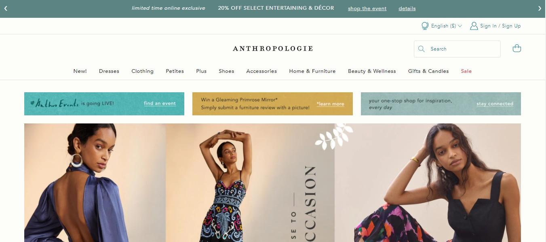Anthropologie Dress Shop in Washington