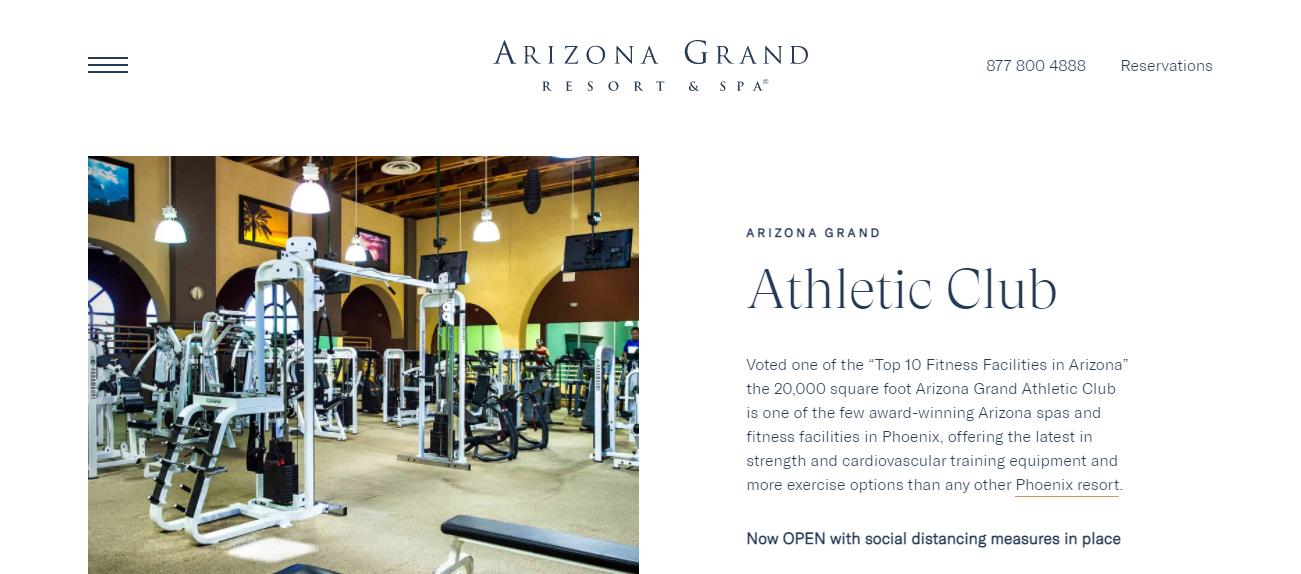 Arizona Grand Athletic Club in Phoenix, AZ