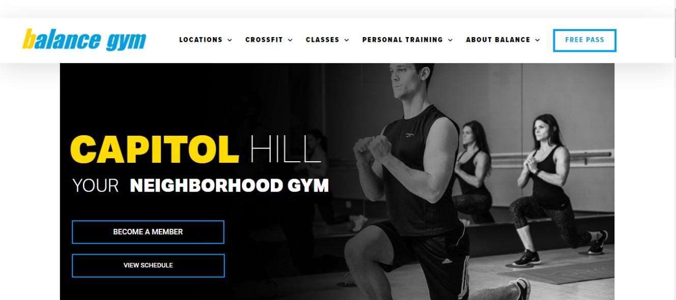 Fitness gym in Washington