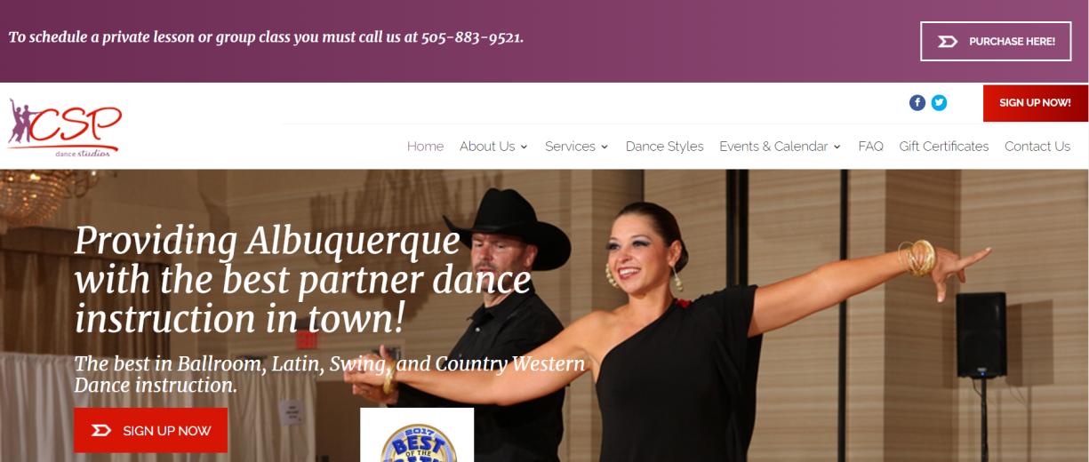 CSP Dance Studio in Albuquerque