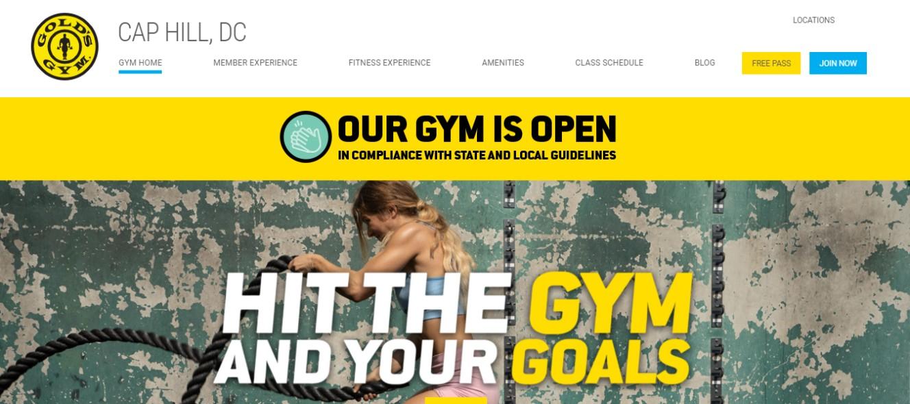 Gold's gym in Washinton, DC