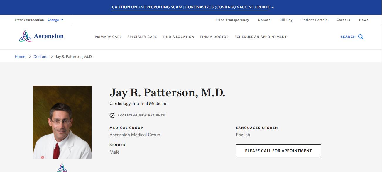 Jay R. Patterson, M.D. in Jacksonville, FL