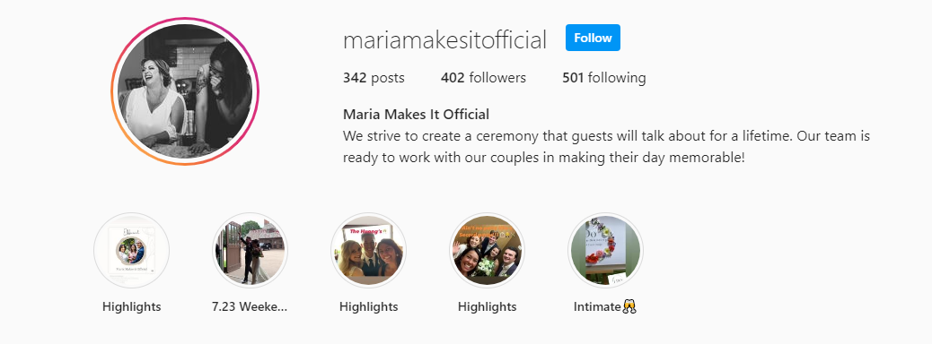 Maria Makes It Official