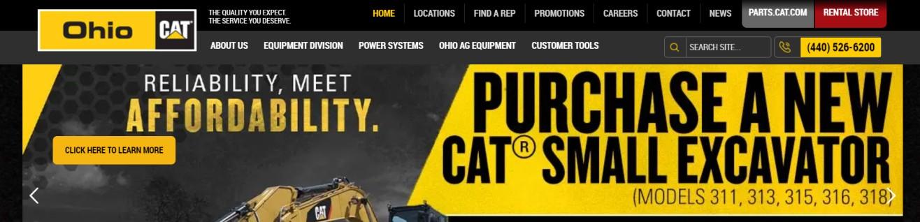 heavy machinery rentals in Columbus