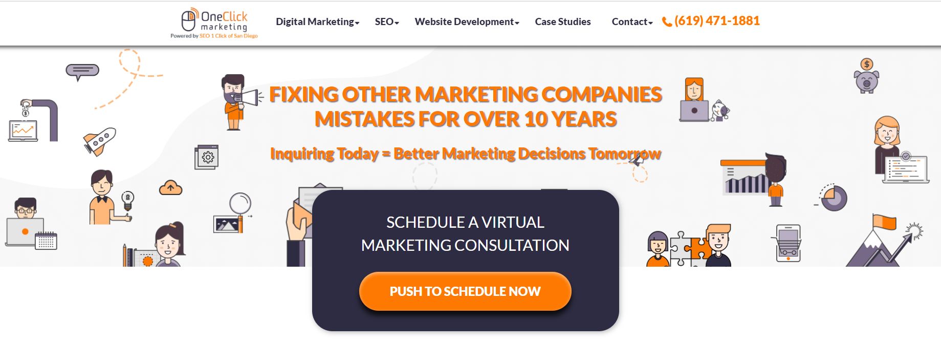 One Click SEO Marketing of San Diego