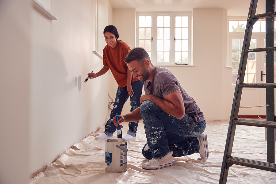 Painting the interior - Increasing the Value of Your Property