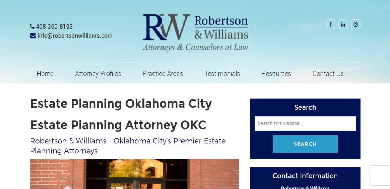 Robertson, Best Conveyancers in Oklahoma City, OK