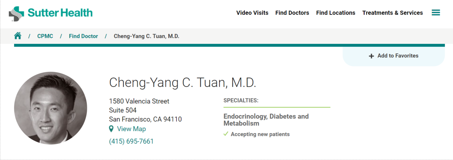 Best Endocrinologists in San Francisco