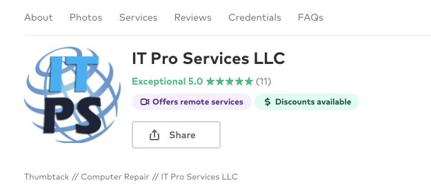 IT Pro Services Web Hosting Memphis