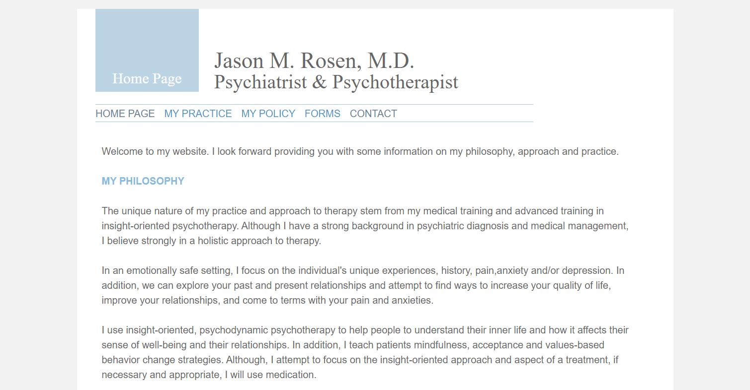 Psychiatrist Jason Rosen in Washington, DC