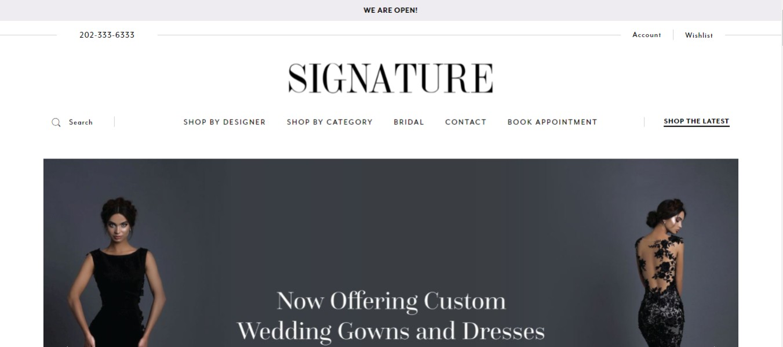 Signature Dress Shop in Washington, DC