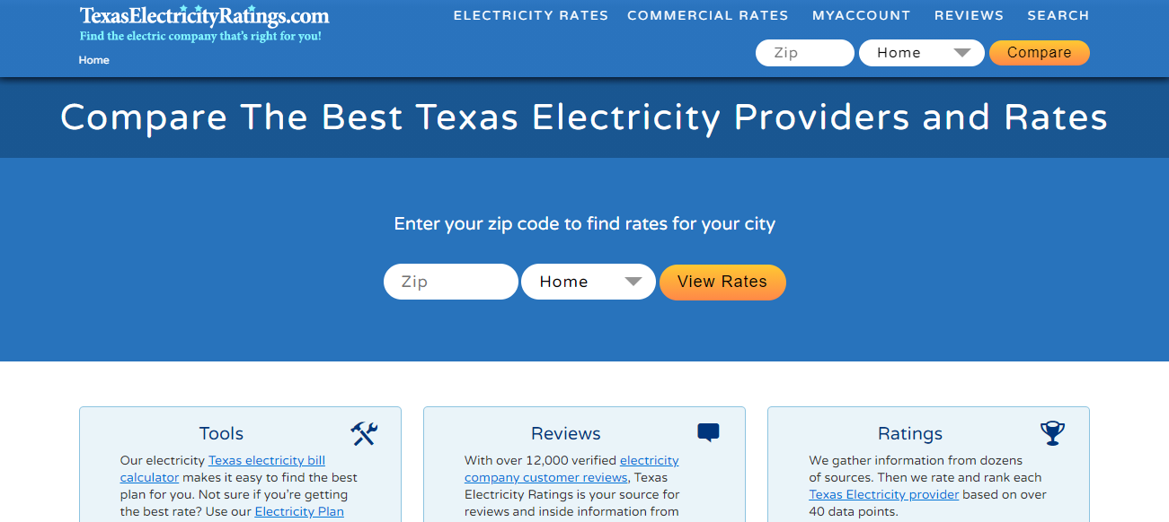 Texas Electricity Ratings in Houston, TX