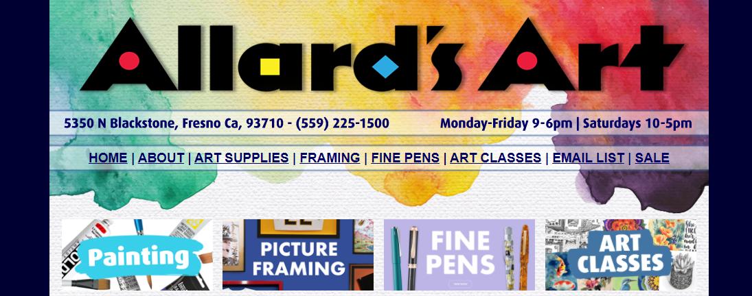 Allard's ArtArt Classes in Fresno, CA