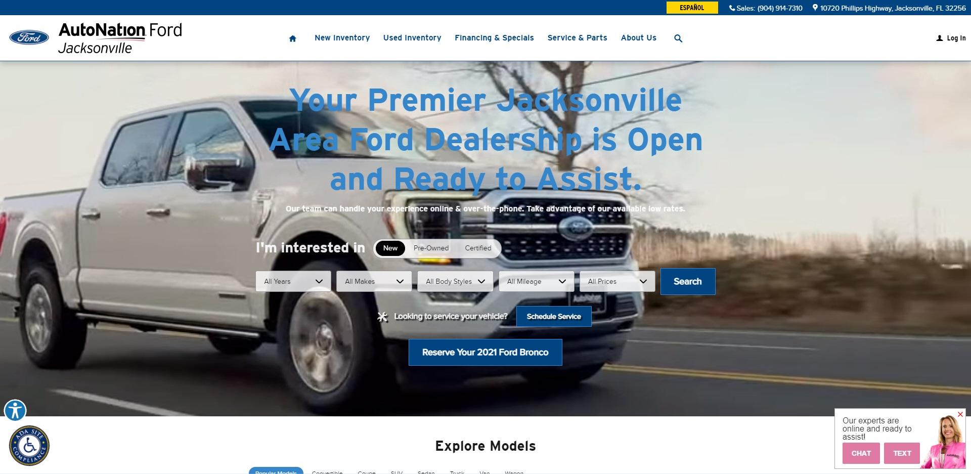 Best Ford Dealers in Jacksonville, FL