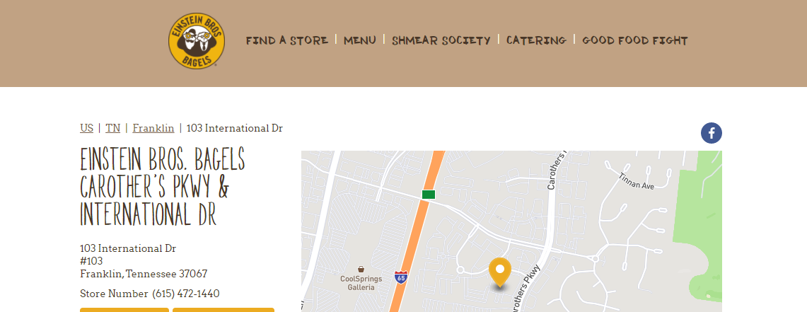 Einstein Bros. Bagels Bagel Shops in Nashville, TN