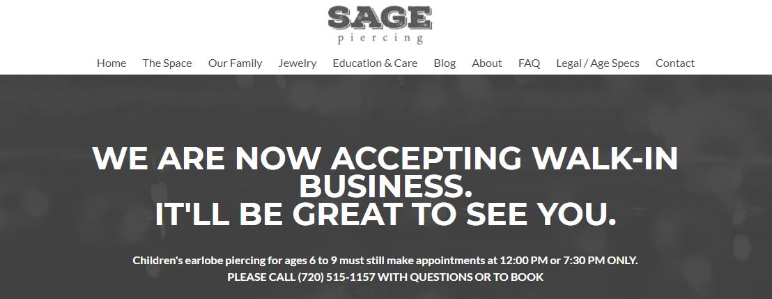 Sage Piercing Denver, CO