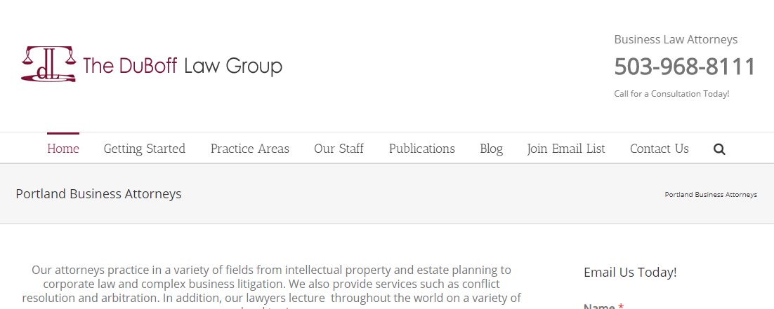 DuBoff Law Group Corporate Lawyers