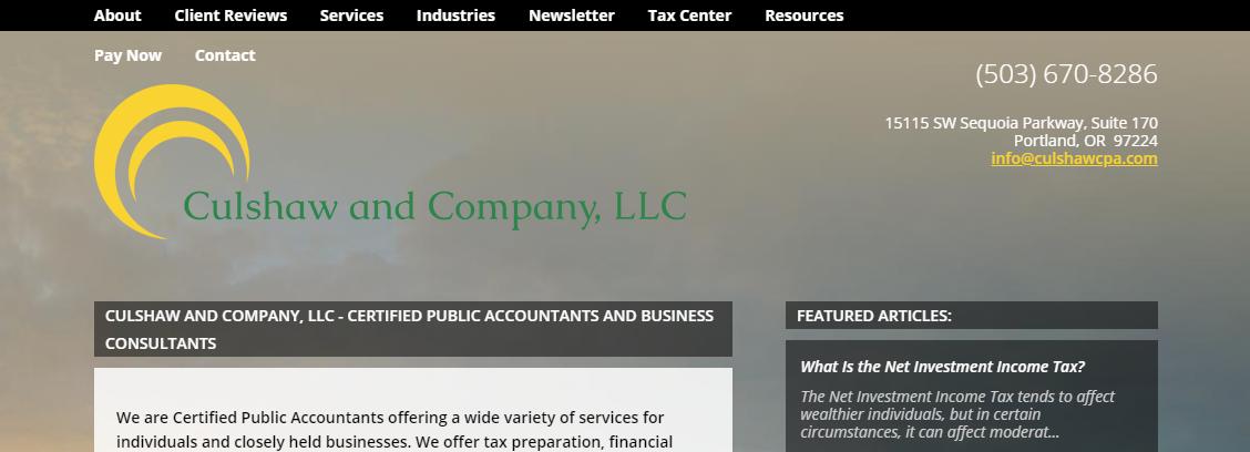 Culshaw and Company, LLC CPAs in Portland, OR