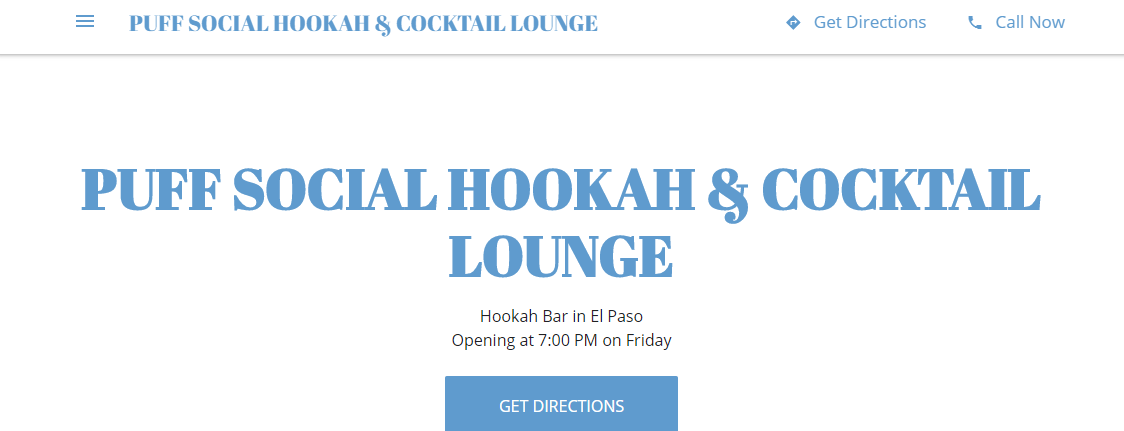 Puff Social Hookah and Cocktail Lounge