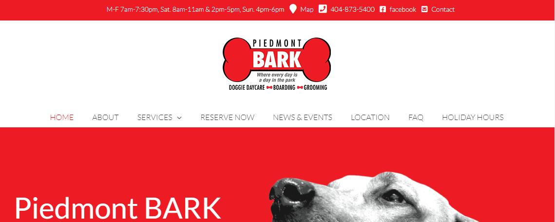 Piedmont Bark Doggy Day Care Centers in Atlanta, GA