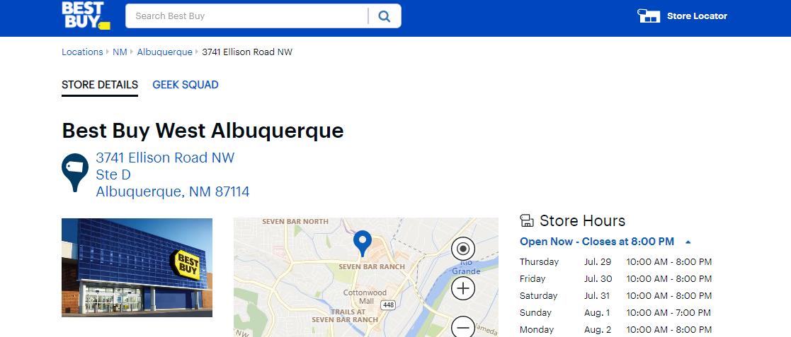Best Buy Electronics in Albuquerque, NM