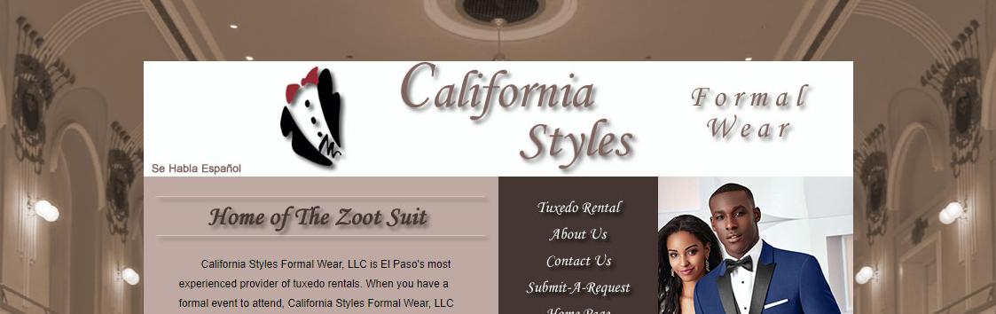California Style Formal Wear