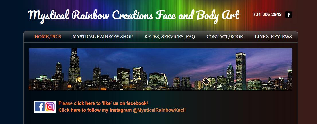 Mystical Rainbow Creations Face and Body Art
