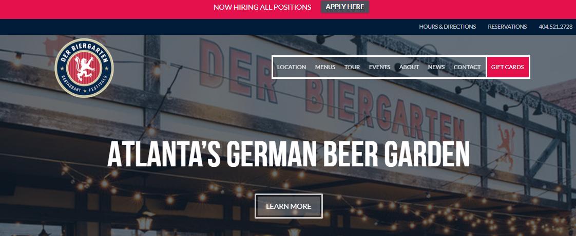 Der Biergarten- German Restaurants in Atlanta