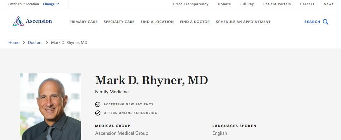 Mark D. Rhyner, MD