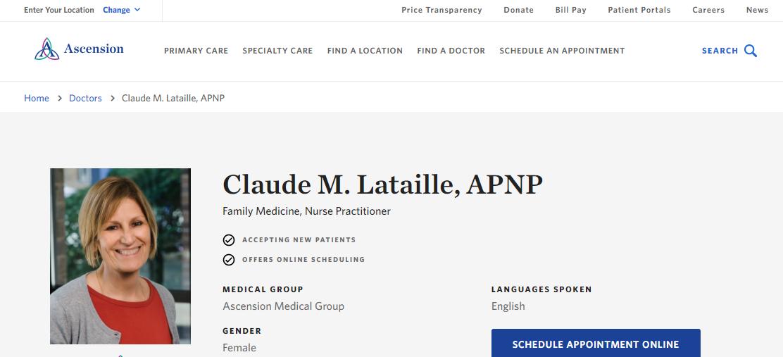 Claude M. Lataille, APNP