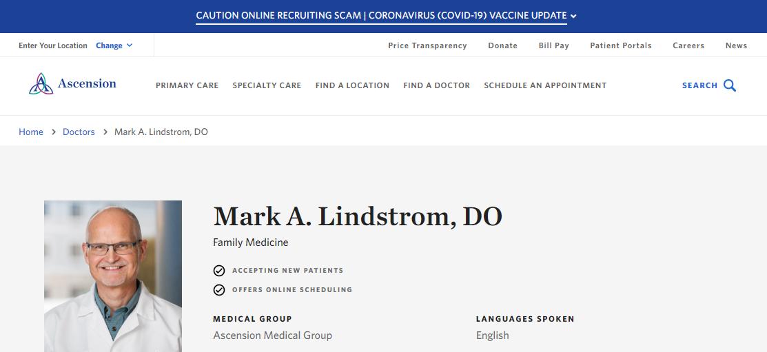 Mark A. Lindstrom, DO