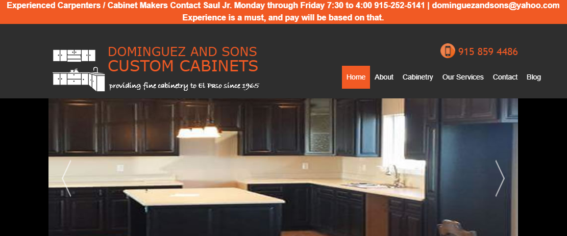 Dominguez and Sons Custom Cabinet Shop