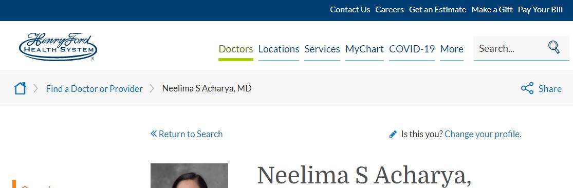 Neelima S. Acharya, MD
