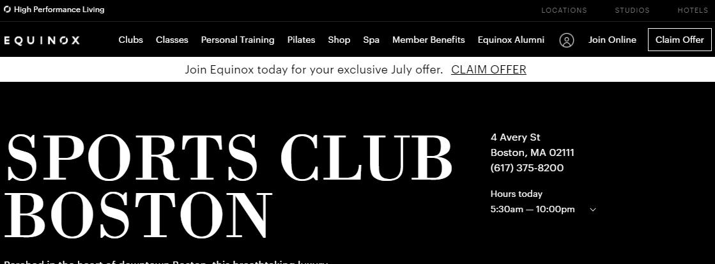 Equinox Sports Club Boston