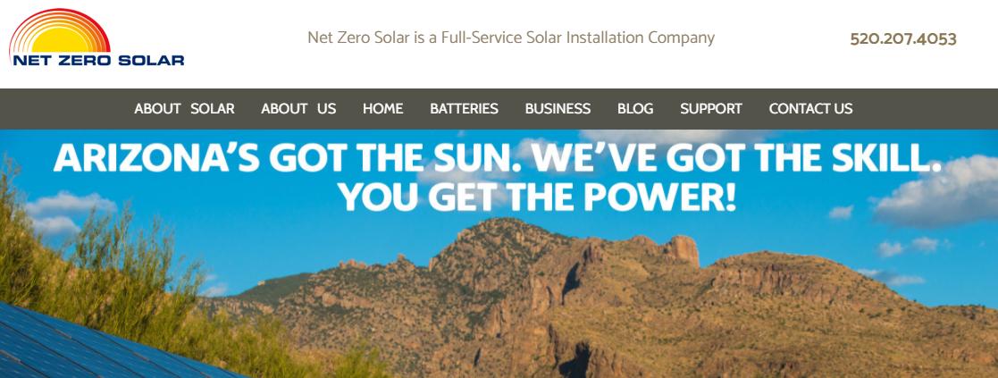 Net Zero Solar Solar Panels in Tucson, AZ