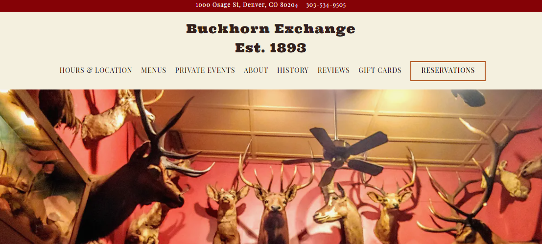 Buckhorn Exhange Restaurnat