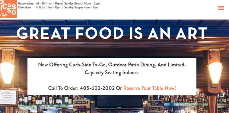Picasso Cafe Vegan Restaurants in Oklahoma City, OK