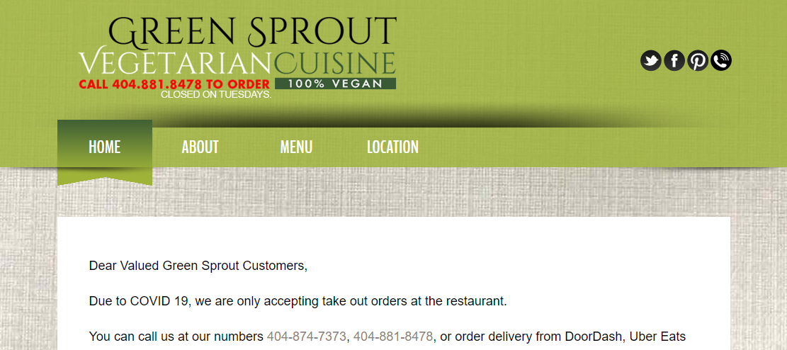 Green Sprout Vegan Restaurant