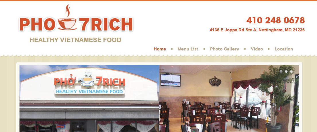 Pho7Rich Vietnamese Restaurants in Baltimore, MD