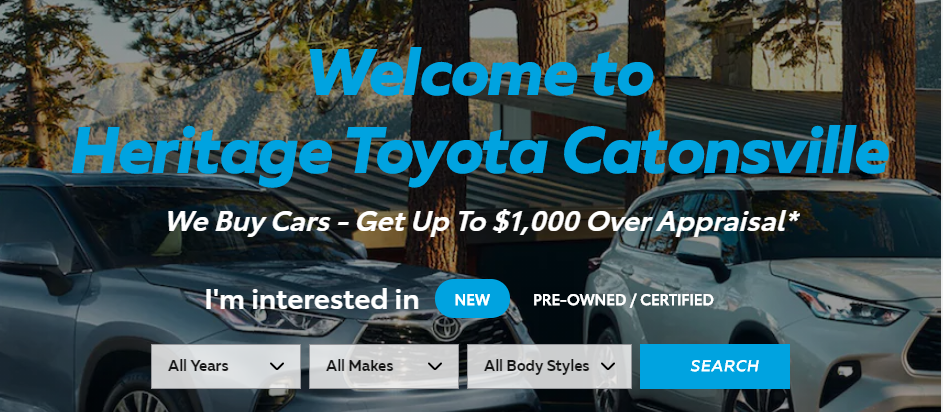 Great Toyota Dealers in Baltimore