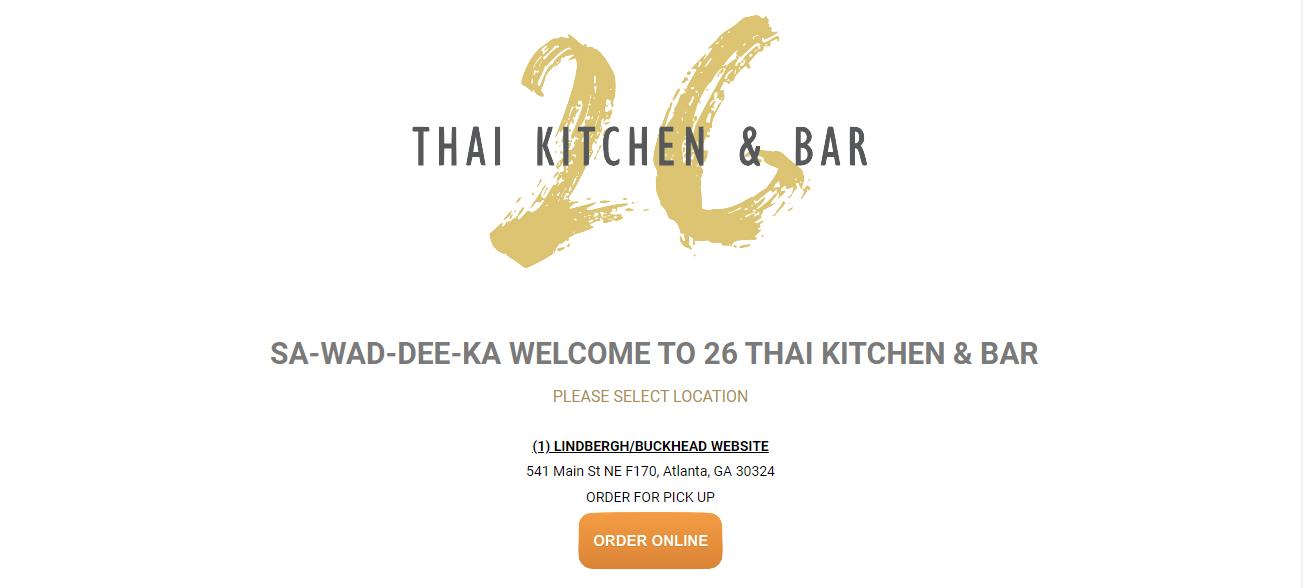 26 Thai Kitchen & Bar in Atlanta, GA